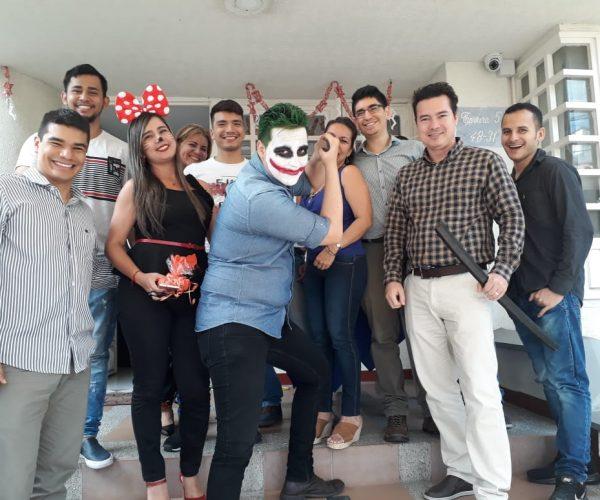 Un equipo creativo y alegre
